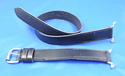 leather bonnet strap - 2 part