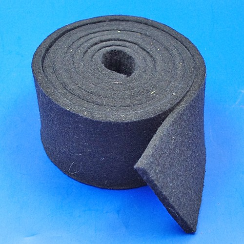 black felt strip - 75mm x 6mm