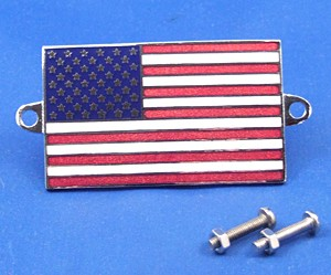 enamel nationality flag badge / plaque United States of America