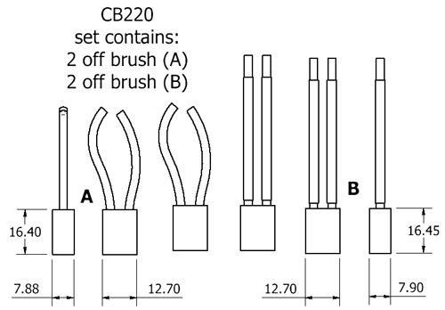 dynamo and starter brush sets - CB220 starter brush set