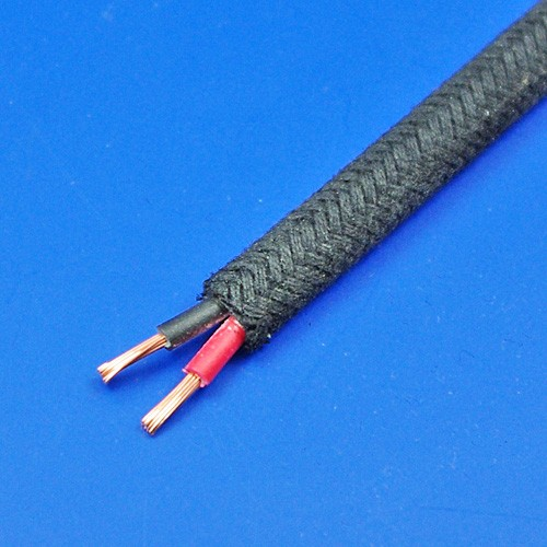 cotton braid cable - twin 8 amp capacity