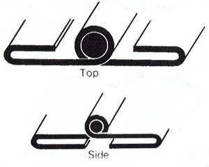 bonnet hinge - folded type - set of three hinges - top and two sides