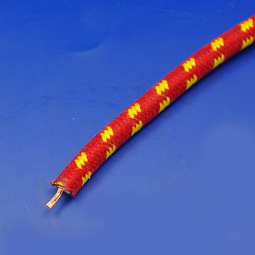 HT ignition cable - red with yellow trace
