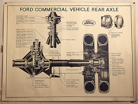 ford commercial rear axle parts print