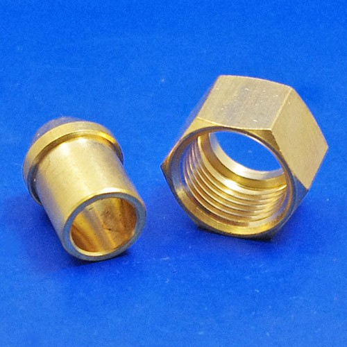 solder type nut and nipple - 355 3/8 BSP for 3/8 pipe