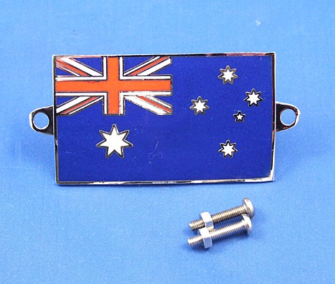 enamel nationality flag badge / plaque Australia