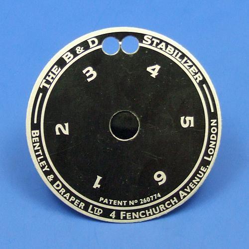Bentley & Draper small indicator dial