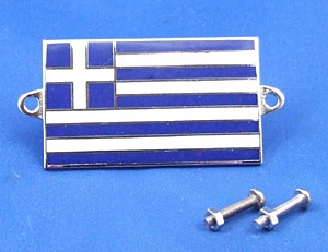 enamel nationality flag badge / plaque Greece