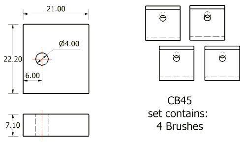 dynamo and starter brush sets - CB45 starter brush set