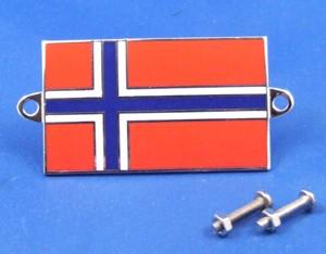 enamel nationality flag badge / plaque Norway