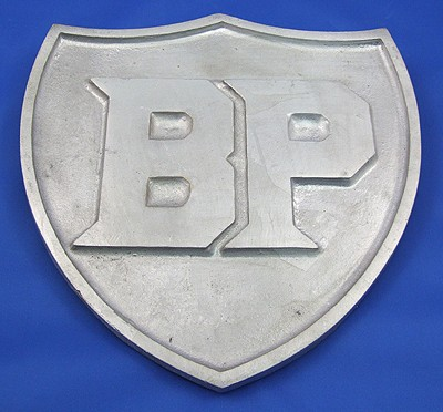 BP aluminium sign