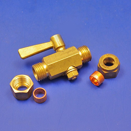 1/4 BSP in line tap - compression fittings