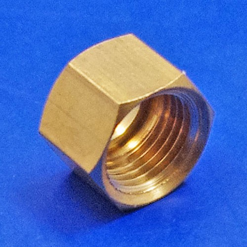 solder type fitting nut  - CA120 1/8BSP nut for solder type nipple