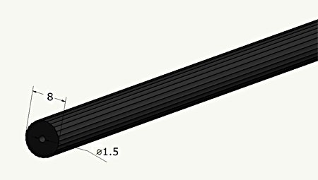 wiper vacuum tube