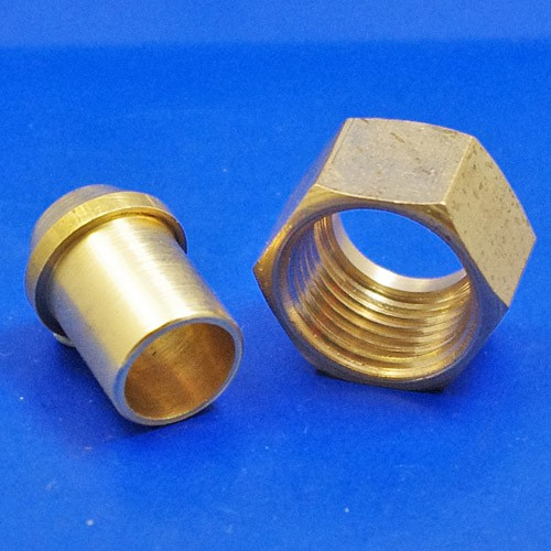 solder type nut and nipple - 186 1/2 BSP for 1/2 pipe