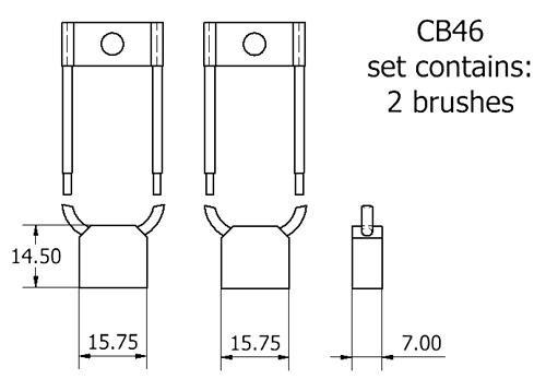 dynamo and starter brush sets - CB46 starter brush set