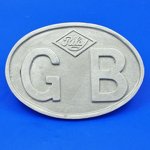 cast GB plate with marked Riley