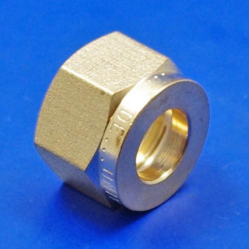 Com nut compression solderless fittings