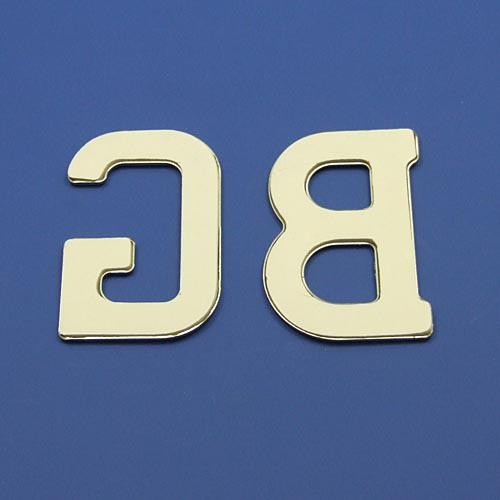 CA1376 self adhesive chrome GB letters  GB & Rear Plaque