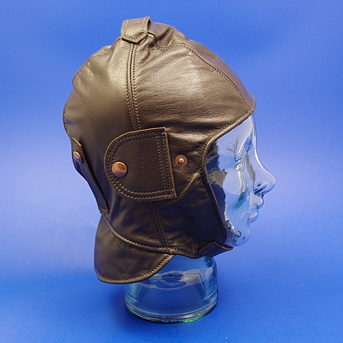 leather motoring helmet - large