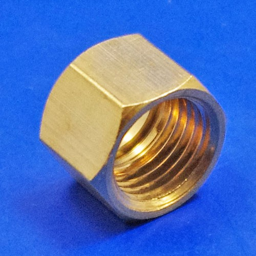 solder type fitting nut  - CA121 1/4BSP nut for solder type nipple