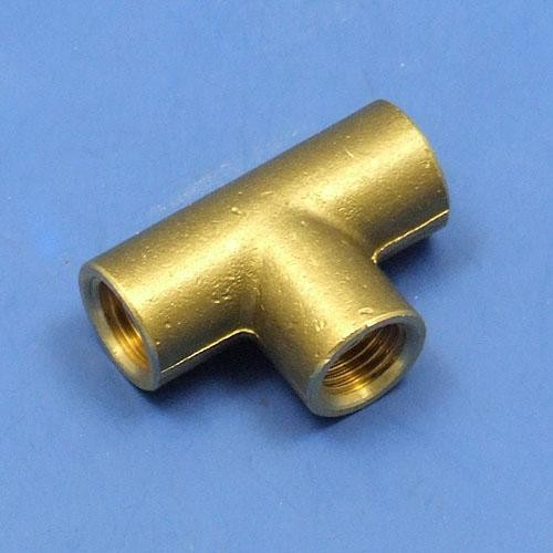 Solder type tee fitting fittings taps pipe and