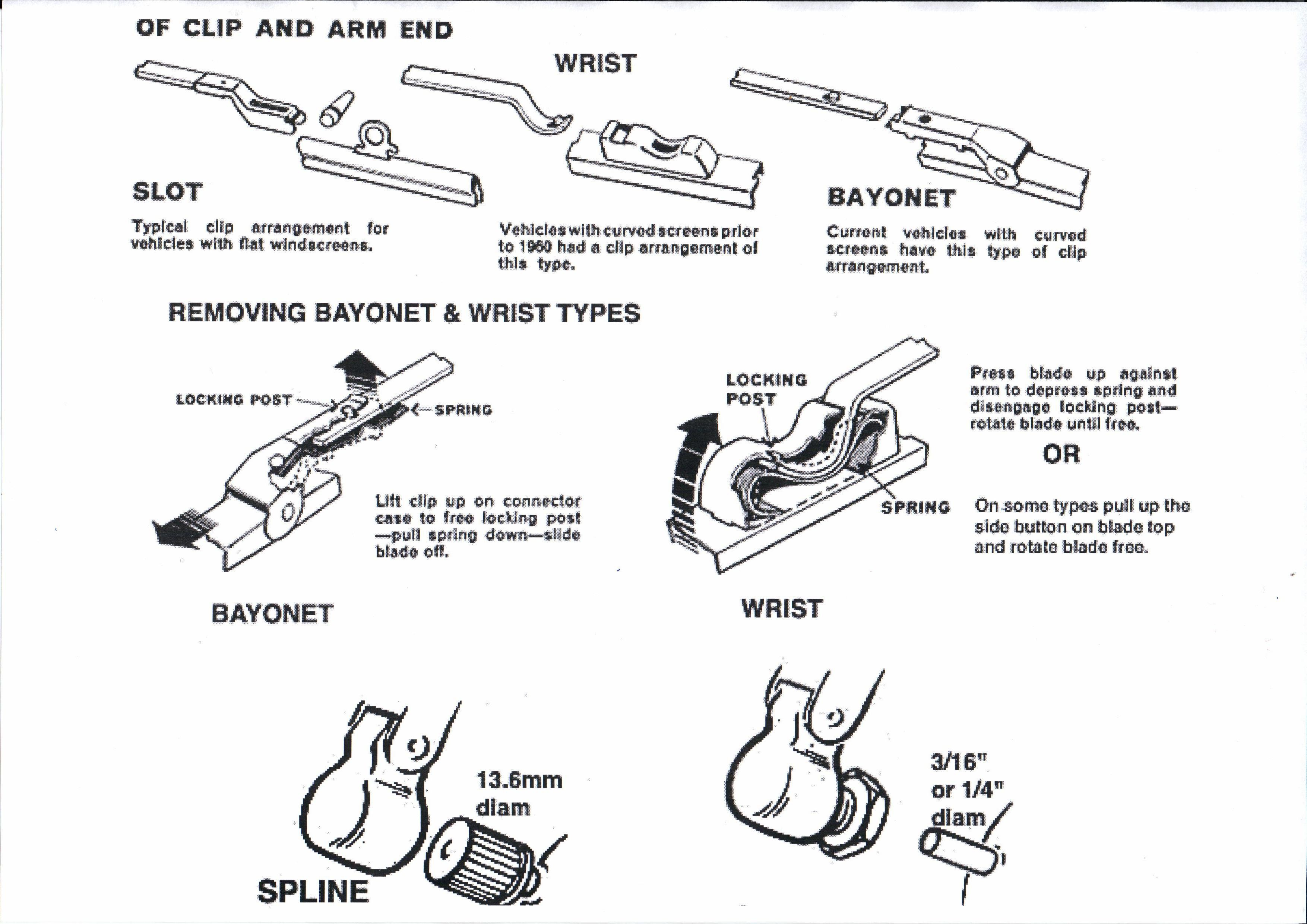 wiper arm - wrist-shaft
