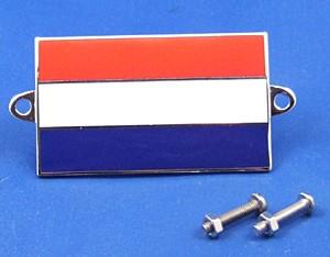 enamel nationality flag badge / plaque Holland