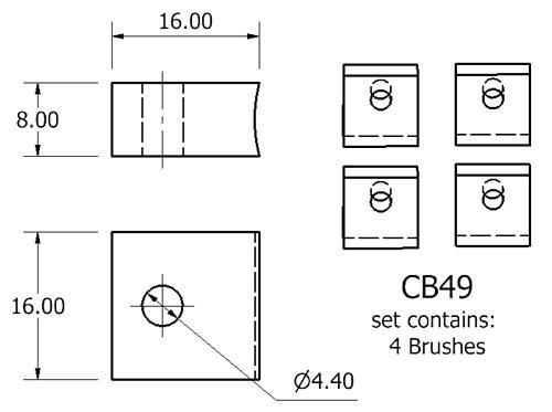 dynamo and starter brush sets - CB49 starter brush set