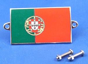 enamel nationality flag badge / plaque Portugal