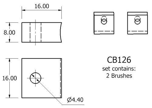 dynamo and starter brush sets - CB126 starter brush set