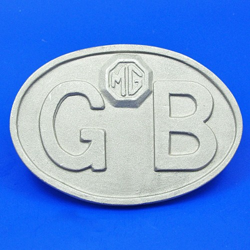 cast GB plate with MG logo