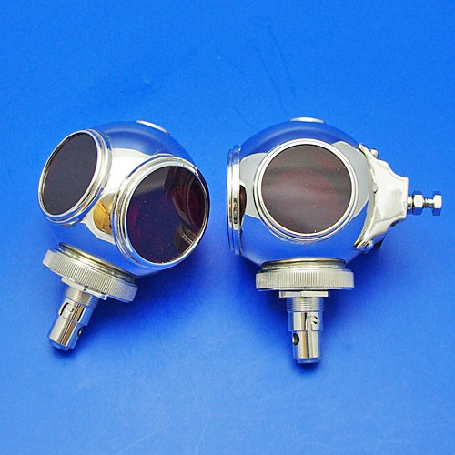 divers helmet small rear light - (pair) - nickel