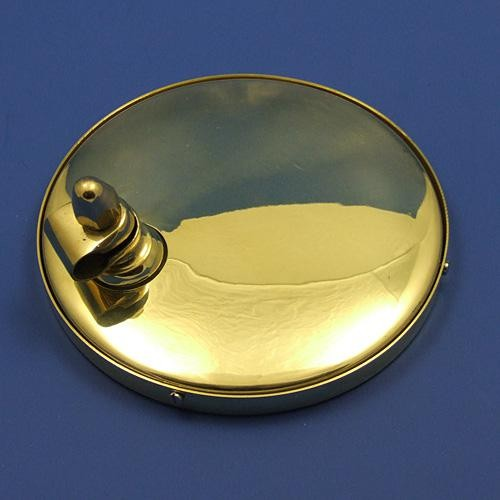 large round rear view mirror - brass