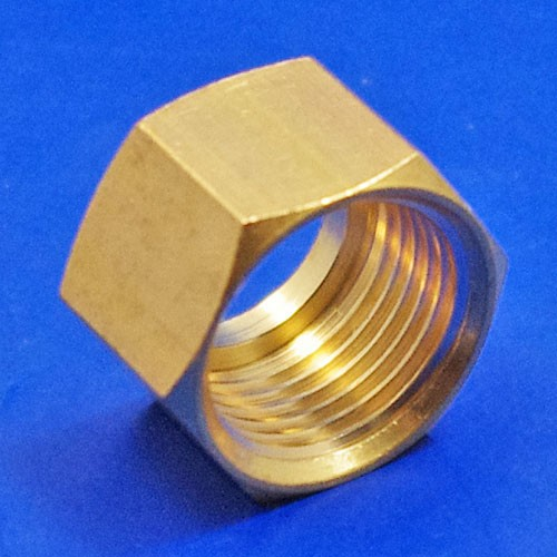solder type fitting nut  - CA122 3/8BSP nut for solder type nipple