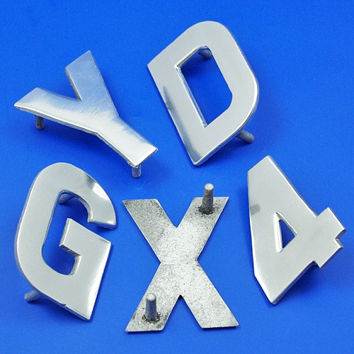 cast aluminium flat digits