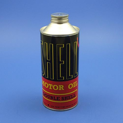 Shell Double Shell motor oil can