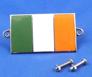 enamel nationality flag badge / plaque Ireland