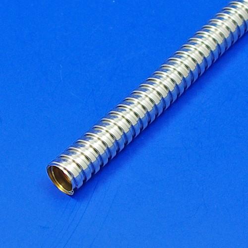metal conduit sleeving - plated - 12mm bore nickel