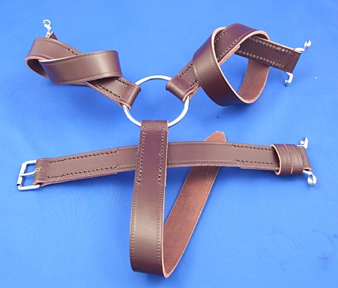 leather wheel strap - three legged