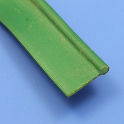 wing piping solid plastic - green
