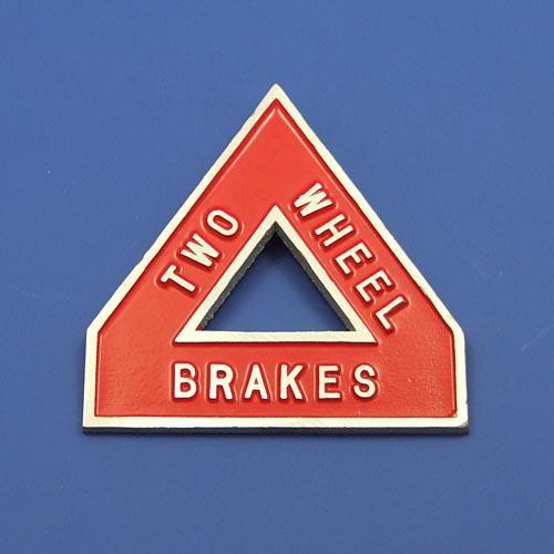 2 wheel brake sign
