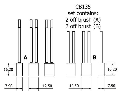 dynamo and starter brush sets - CB135 starter brush set