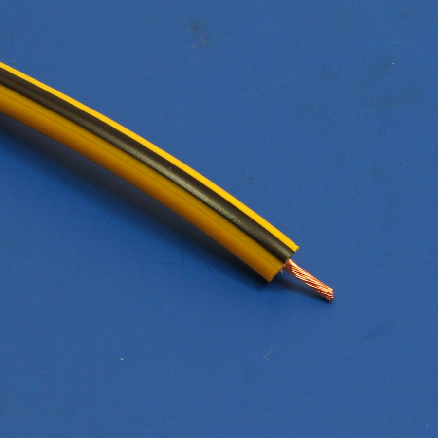HT ignition cable - Bumble-Bee yellow and black hypalon