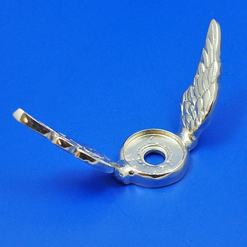 calormeter wings - small raised wing - nickel