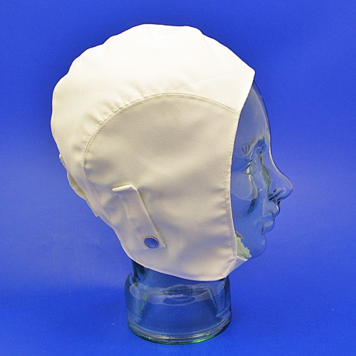 linen motoring helmet (without neck flap) - white linen large