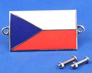 enamel nationality flag badge / plaque Czech Republic