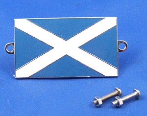 enamel nationality flag badge / plaque Scotland