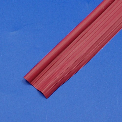 wing piping solid plastic - red